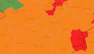 Las áreas de Tierra de Pinares comienzan semana entre el rojo y el naranja