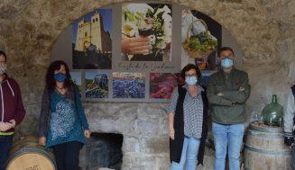 Los arcos de la Catedral del Vino acoge la exposición sobre la Historia, vinos y Bodegas de Cigales