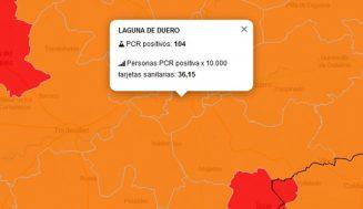 Se disparan hasta 104 los contagios en los últimos 7 días en el Área de Salud de Laguna de Duero