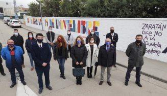 La Diputación de Valladolid inaugura en Zaratán un mural para concienciar a la sociedad contra la violencia de género
