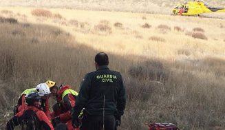 Rescatado un ciclista tras sufrir una caída en una zona de difícil acceso en Renedo de Esgueva