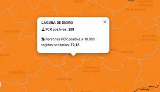 Riesgo 'Muy alto' en la práctica totalidad de los pueblos de las zonas de salud de Tierra de Pinares