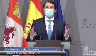 Mañueco anuncia la eliminación del toque de queda y el cierre perimetral de la Comunidad a partir del 9 de mayo