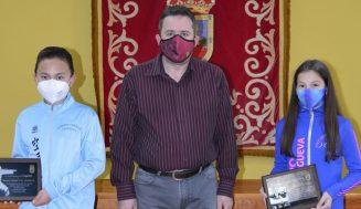 Cigales rinde homenaje a sus deportistas Salem Abdel Paz Orellana y Daniela Ruiz Reca