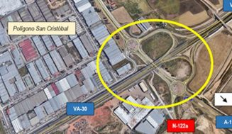 Mitma licita la redacción del proyecto de remodelación del enlace de la Ronda Exterior de Valladolid con la A-11 y la N-122a